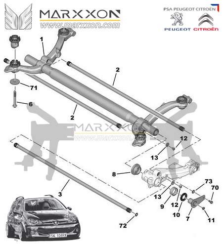 Torsion Axle Diagram on 2005 vw beetle