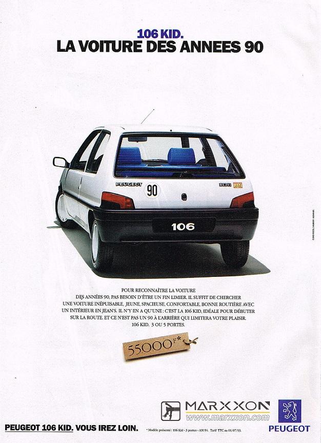 PSA Peugeot 106 Citroen AX Saxo advertising and post