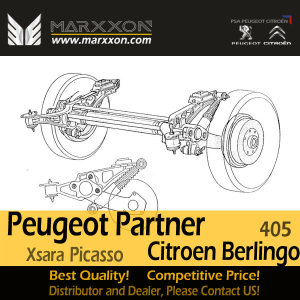 Drawing of Marxxon Peugeot Ranch 405 Partner Citroen