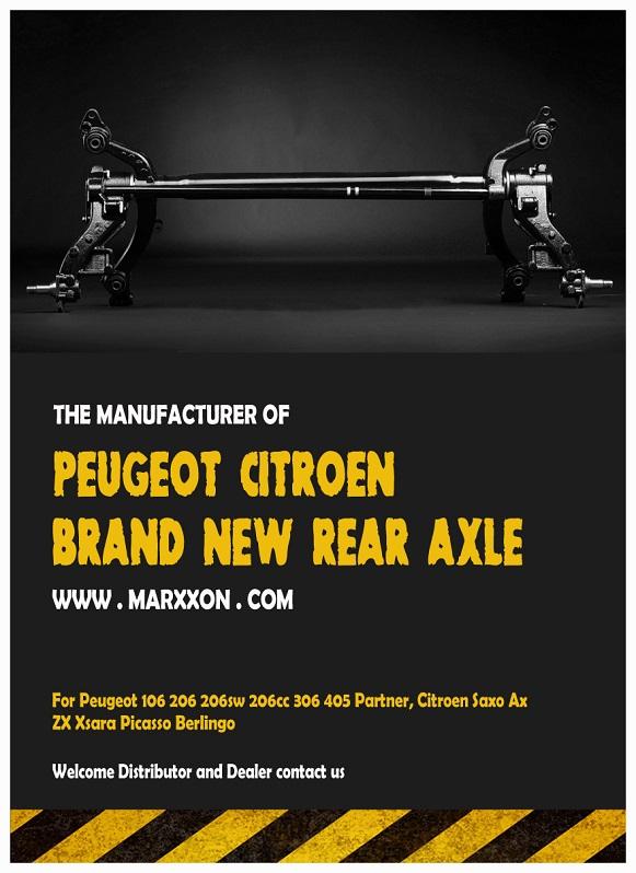 marxxon peugeot 206 306 partner citroen saxo xsara berlingo rear suspension rear axle back axle. Black Bedroom Furniture Sets. Home Design Ideas