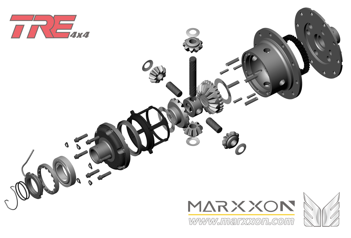 Tre air locker marxxon peugeot citroen rear axle train arri re driveshaft differential